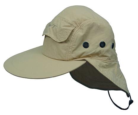 6c9f980676912c Amazon.com: Hook & Tackle® Air-X Bahamas Cap Khaki One Size: Clothing