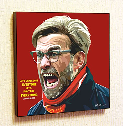 Jurgen Klopp Liverpool Soccer Football Fifa Framed Poster Pop Art for Decor with Motivational Quotes Printed - Football Pop Art