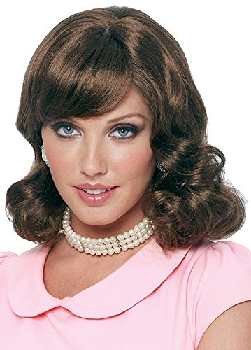 Costume Culture Women's 50's Magic Wig, Brown, One (1950s Wig)