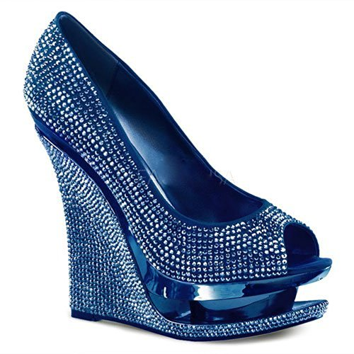 Pleaser Day & Night Plateau Wedges RAZZLE-660RS - Blau 40 EU