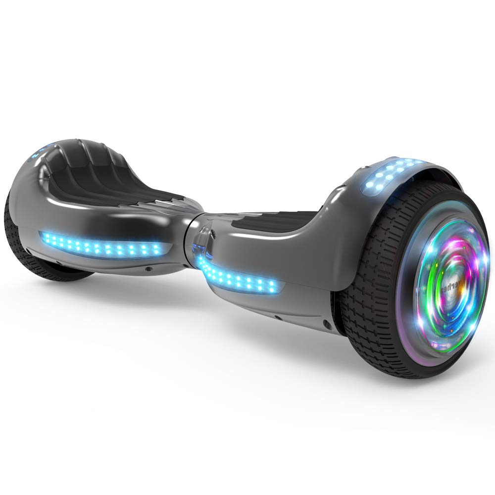 Hoverboard Ul 2272 Certified Flash Wheel 65 Wireless Balance Scooter Circuit Repair Kit Board Main Hover Replacement Speaker With Led Light Self Balancing Electric Chrome Black Sports