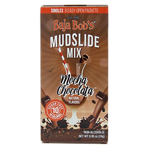 Mudslide Mix Singles (8 Single-Serve Packets Per Box ) - The Original Zero Sugar, Low Calorie, Low Carb, Keto Friendly, Skinny Cocktail Mixer