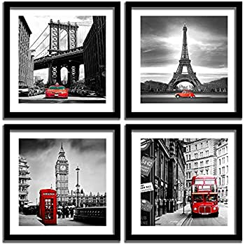 EIFFEL TOWER BLACK WHITE BUTTERFLY COLLAGE PARIS ART PRINT Poster Wall Picture