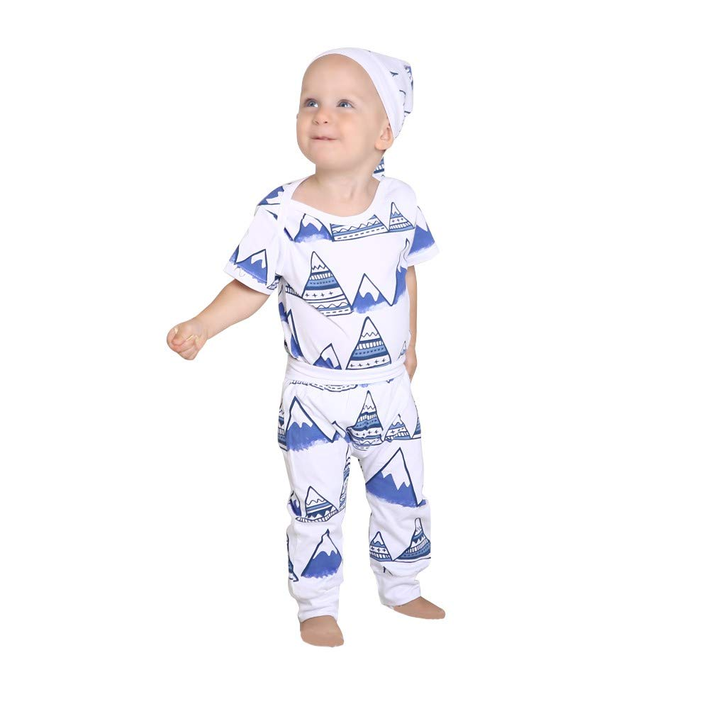 0677a7b54 Amazon.com  Lurryly❤3PCS Toddler Baby Mountain Print Romper Clothes ...