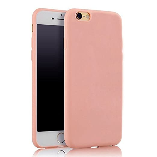 Image du produit Hosaire 1Piece Coque soft Tpu solid ultra-thin pour iPhone 6/ 6s multicolore option-Rose clair