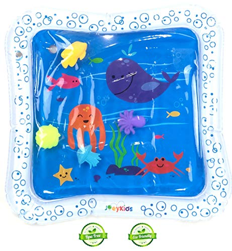 JoeyKids BPAFree Water Play Mat Inflatable Baby Mat Tummy Time Mat for Babies Infants and Toddlers...