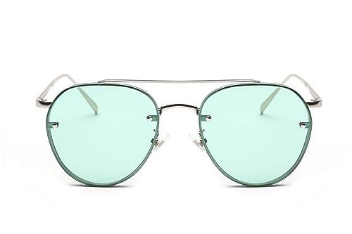 ad94d63898fba GAMT Round Aviator Sunglasses Vintage Metal Frame Unisex Designer Green Lens