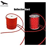 Freehawk(TM) High Quality multi-purpose cord Reflective Cord Made of 100% Nylon Perfect for use as tent guy lines, hanging bear bags, boating, tying up tarps or shelters in 20M, Red