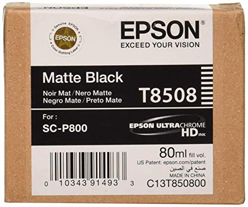 Epson T850800 T850 UltraChrome HD Matte Black ()