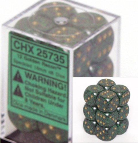 【在庫有】 Chessex Speckled Dice d6 of Sets: Golden Recon B000RZN424 Speckled - 16mm Six Sided Die (12) Block of Dice B000RZN424, パズル生活:c576a882 --- cliente.opweb0005.servidorwebfacil.com