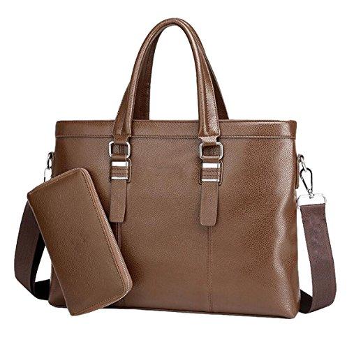 Hombre De Negocios Pack Bolso Bolsa De Hombro Bolsa De Mensajero Bolsa Master Simple Ambiente De Moda Brown5