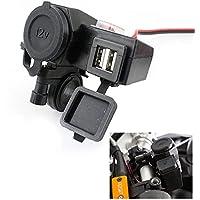 UXOXAS 12V USB Cigarette Lighter Waterproof Power Port Outlet Socket Kit For Motorcle