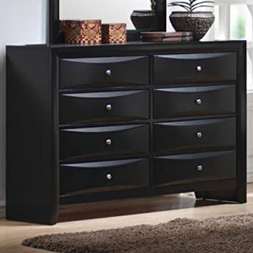 Coaster Dresser with Brushed Chrome Accents in Glossy Black Finish. Amazon com  Coaster Dresser with Brushed Chrome Accents in Glossy