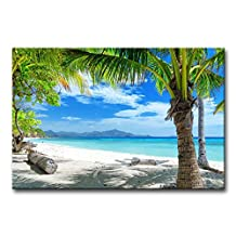 Blue Wall Art Painting Tropical Beach Coconut Tree Blue Ocean Cloud Pictures Prints On Canvas Seascape The Picture Decor Oil For Home Modern Decoration Print For Girls Bedroom