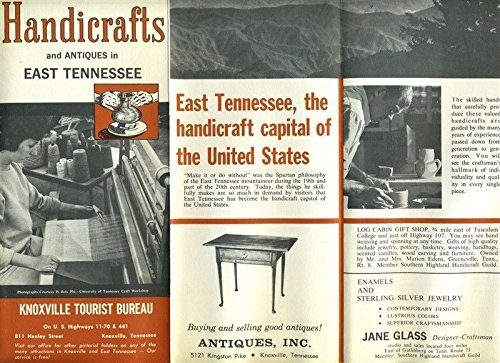 Handicrafts & Antiques in East Tennessee Brochure 1963 Knoxville