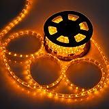 Lighting LED Rope Light 50-ft 2 Wires Saffron