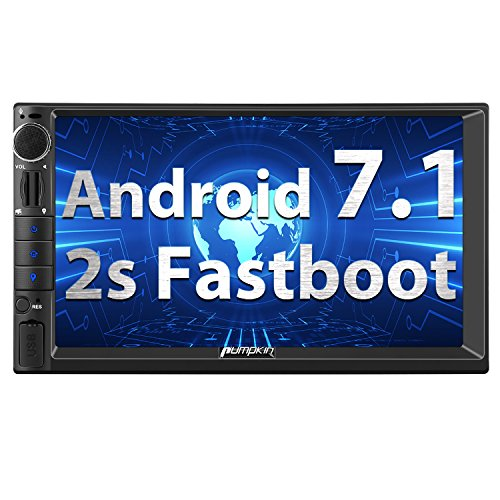 Pumpkin Android 7.1 Double Din Car Stereo Sat Nav Bluetooth Support GPS...