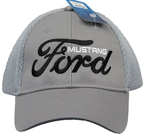 ford-mustang-hat-embroidered-logo-mesh-back-adjustable-cap-grey
