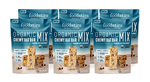 Foodstirs Chewy Oat Bar Mix, Chocolate Coconut, 15.2 Ounce, 6 Count