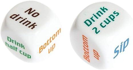 1 par de juegos de mesa para adultos de White Drinking Wine Inglés, Dice Games Dice Drunk Frenzy Party Juego de Bachelorette: Amazon.es: Grandes electrodomésticos