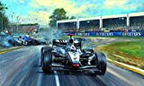 Melbourne Victory Classic Formula One Racing Print Autographed By David Coulthard