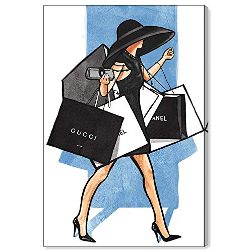Oliver Gal 'Rodeo Dr Walk' The Fashion Wall Art Decor Collection Modern Premium Canvas Art Print