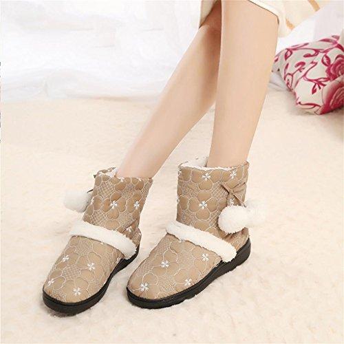 ALUK-Chaussures chaudes en coton d'hiver, chaussures épaisses et chaudes