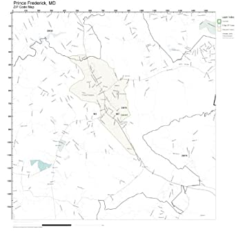 Frederick County Md Zip Code Map.Amazon Com Zip Code Wall Map Of Prince Frederick Md Zip Code Map