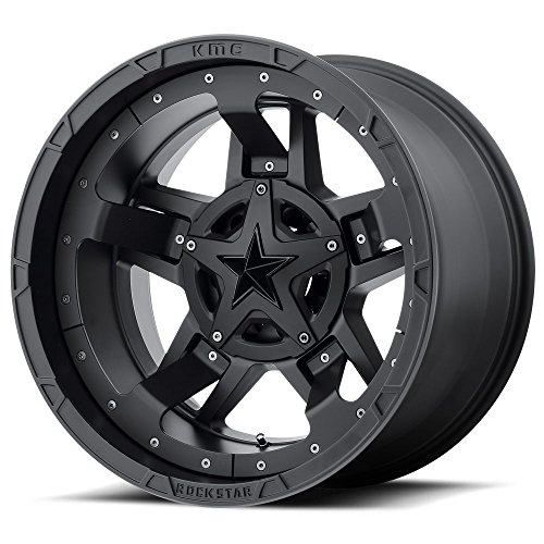 XD Series by KMC Wheels XD827 ROCKSTAR III Wheel with BLACK and Chromium (hexavalent compounds) (17 x 9. inches /5 x 87 mm, -12 mm Offset) (Kmc Rockstar Rims)