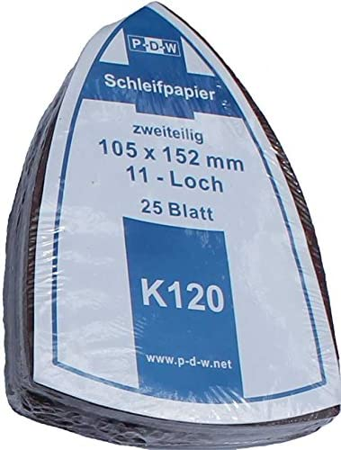 Ventaro/® 100 St/ück Multi Schleifbl/ätter 105x152 mm Korn 120 f/ür Multischleifer Bosch/® Prio/®