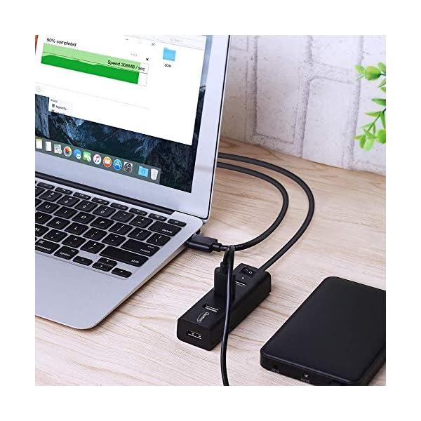 Quantum QHM6660 4 Port Hi-Speed USB Hub with Power Switch (Multicolor)