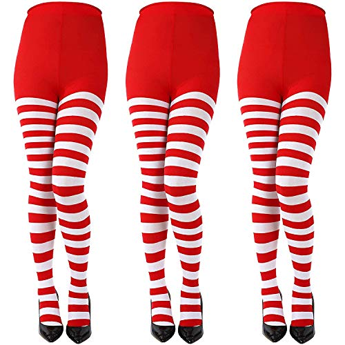 302ca1002 LOCOLO 3 Special Holiday Striped Socks Thigh High Stockings Pantyhose for  Themed Party