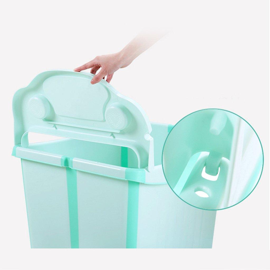 GAOYANG Foldable Baby Bath Extra Large Child Bath Bucket Bathtub for Children to Sit Baby Bath Bucket Bathtub (Color : Green) by GAOYANGyupen (Image #4)