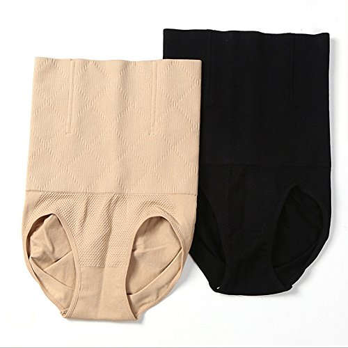 Fzmix Women Sexy Belly Hip High Waist Control Panties Slimming Body Shaper Seamless Underwear Corset Hot Shapers Shapewear Black