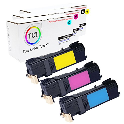 True Color Toner 3-Pack Xerox Phaser 6130 6130N Compatible Toner Cartridge Replacement (106R01278 Cyan, 106R01279 Magenta, 106R01280 (Extra Hy Print Cartridge)