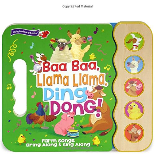 Baa Baa, Llama Llama, Ding Dong!: 5-Button Children's Sound Book (5 Button Sound) (Early Bird Song - Door Baa