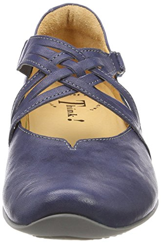 Think Ballet Flats Chilli Ankle Jeans 84 Strap Women's 282108 Blue Kombi 6w6rgqF