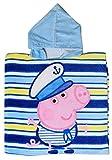 Peppa Pig Boys Blue - Hooded Poncho - Beach/Bath Towel