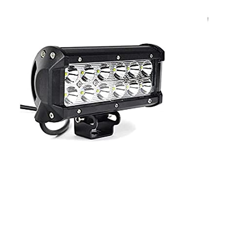 3c404a101 Casago CS12F1P 12 LED Fog Light Bar Waterproof CREE LED Cube Driving Spot  and Flood Lamp for Motorcycle Bikes and Cars (36W)  Amazon.in  Car    Motorbike