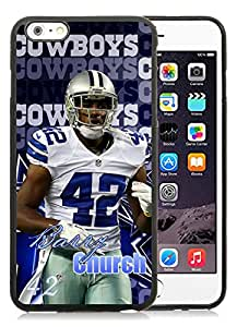 Dallas Cowboys Barry Church Black Hottest Sell Customized iPhone 6plus 5.5 Inch TPU Case