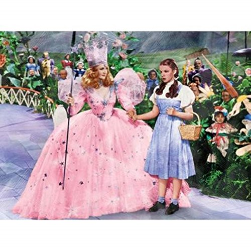 Wizard Oz Munchkin Pictures (WL SS-WL-17251 The Wizard of Oz Glinda & Dorothy in Munchkin Land Canvas Art)