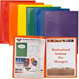 StoreSMART - Plastic 2-Pocket Folders - Primary Colors 60 Pack - 10 Each of Six Bright Colors (R900PCP60)