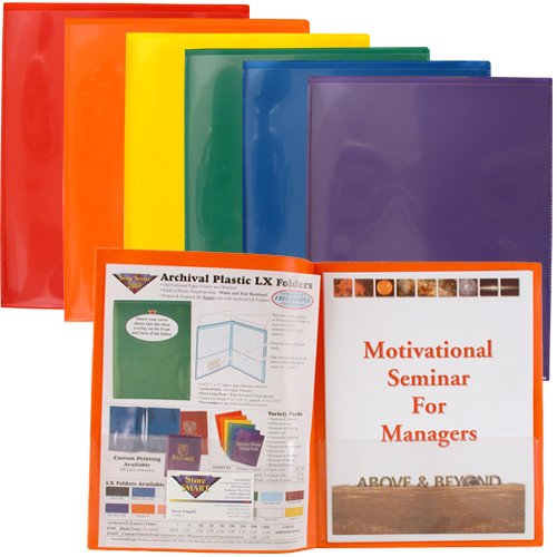 (StoreSMART Plastic Archival Folders Primary Colors Two 6-Packs - 12 Folders - 2 Each of Six Bright Colors (R900PCP6-2))