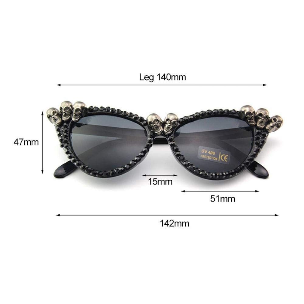 Amazon.com: 2019 Capsear Punk Rhinestone Sunglasses Cat Eye ...