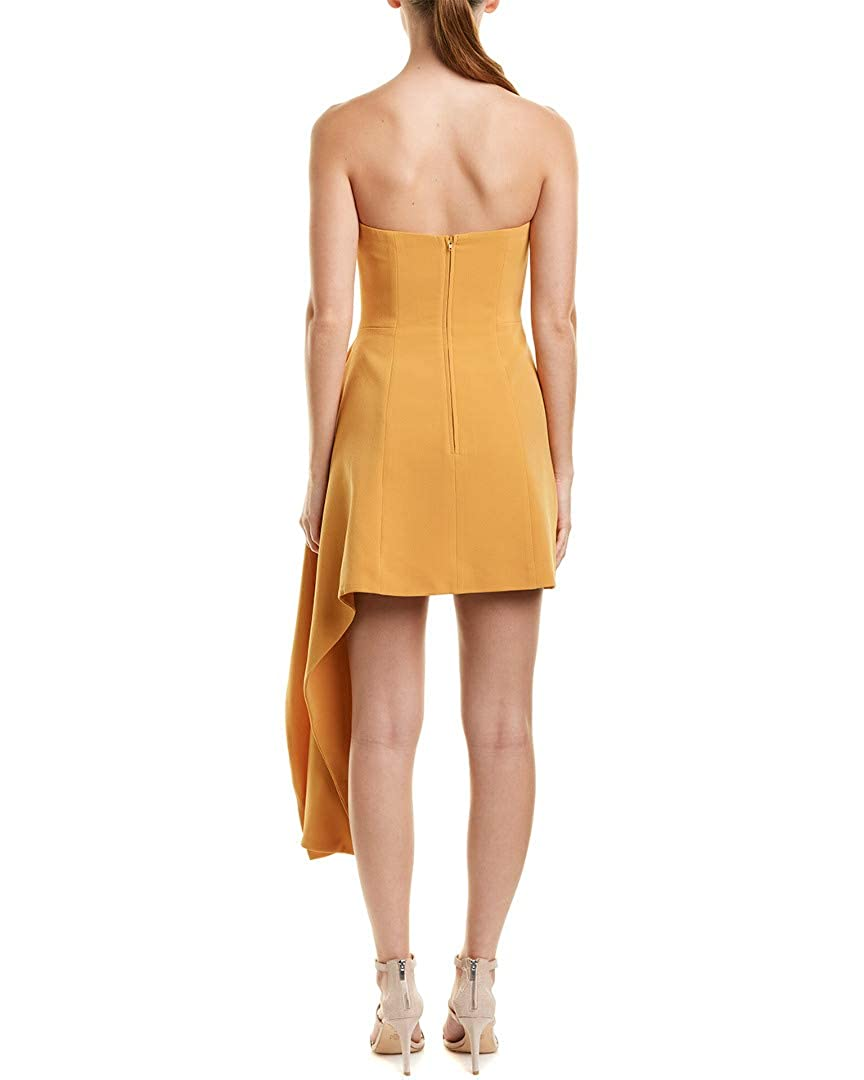 1530c689d489 CMEO COLLECTIVE Womens C/Meo Collective Strapless Mini Dress, M, Yellow at  Amazon Women's Clothing store: