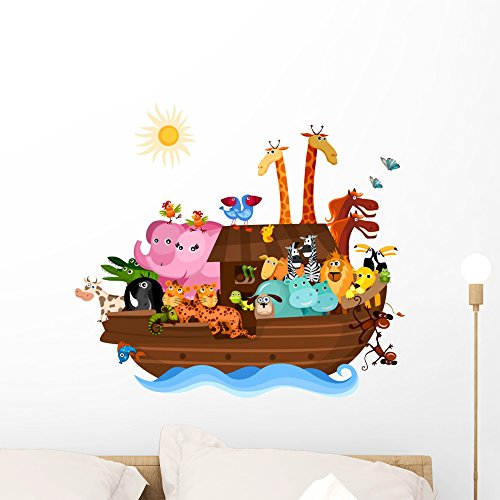 Wallmonkeys Noahs Ark Wall Decal Peel and Stick Graphic (24 in W x 22 in H) WM316202