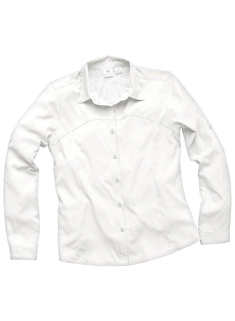 Extended Sizes White Sierra Gobi Desert Long Sleeve Shirt
