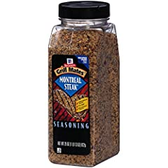 Make dinner extra special with a shake of McCormick Grill Mates Montreal Steak Seasoning Blend. Made with all natural herbs and spices, including garlic, extractives of paprika, and coarsely ground pepper, Montreal Steak Seasoning adds mouthw...