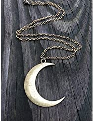 Brass Crescent Moon Necklace Brass Crescent Moon Pendant