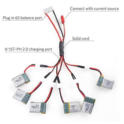 Qunqi 2Pcs JST-XH 2-6S Lipo Battery Charger Balance Board with JST-XH Connectors
